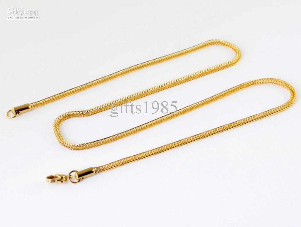 Fox Tail Design Stainless Steel 2.5mm the Fine Ladies Gold-plated ...