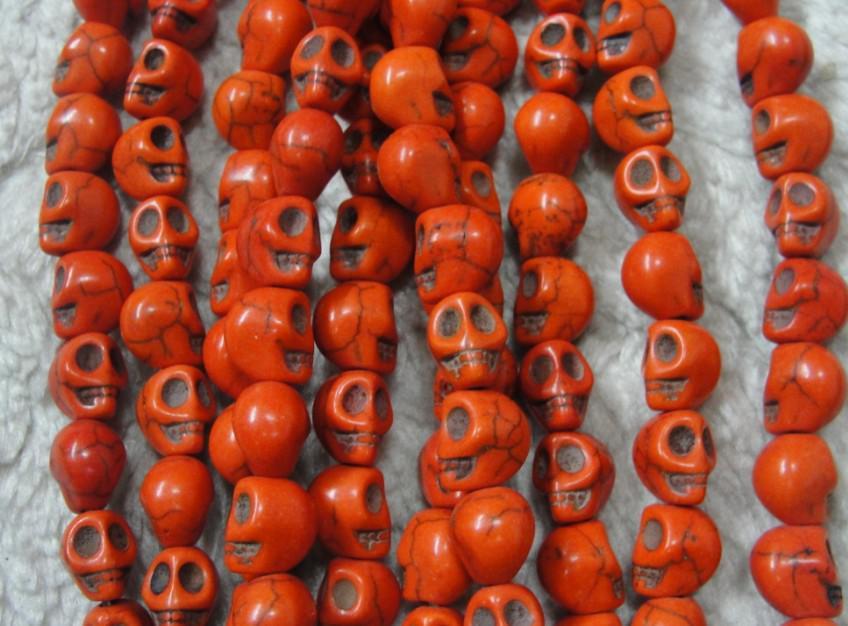 Colorful 10 mm cranio sciolto perline collana braccialetto fai da te