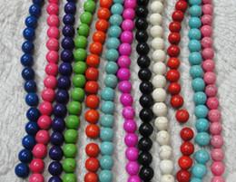 Красивые цвета 10 мм природный камень бусины бирюзовый бусины DIY браслет ожерелье 500 шт.