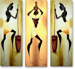 Wholesale Decorative Group Oil Painting - Abstract Sex Girl Art Group Paintings Handmade Oil Painting Wall Decorative Painting With Frame