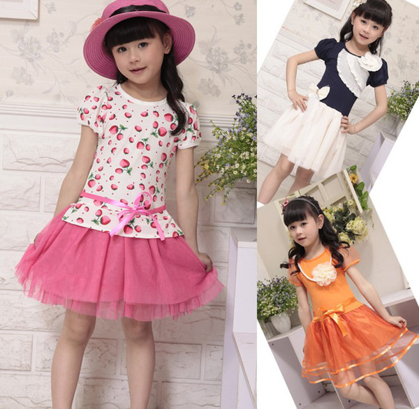 b69e4f24c024 Summer 2013 new explosion models Korean girls more style short-sleeved  youngster dress children dres