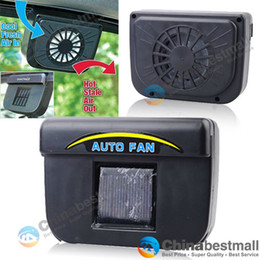 Wholesale Cool Car Toys - Solar Powered Air Vent Cool Cooler Fan With Rubber Stripping New Car Auto Truck fan for Car - Black
