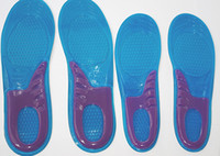 Wholesale free shoes foams resale online - massaging gel insoles gel silicone shoe insole memory foam insole pairs