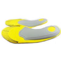 ботинки поддержки дуги памяти оптовых-Горячие продажи ног гвардии здравоохранения, спортивные стельки, ноги арочной Крепи, демпфирование обуви колодки пены памяти стельки 200 пар/Лот