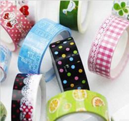 Coreano giapponese carta washi nastro adesivo fai da te adesivi griglia di stoffa fai da te carino cancelleria creativa da fiori per la decorazione del vestito fornitori