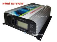 Wholesale Grid Tie Inverter Wind Lcd - free shipping! 1000W Wind grid tie inverter 3phase input AC22-60V+Dump load resister + LCD Display