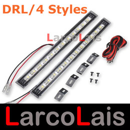 Wholesale Daytime Running Led Turn Signal - 4 Styles 9 LED   12 LED Daytime Running Light 5050 SMD Turn Signal Car Auto Vehicle DRL