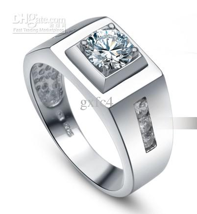14k Top Simulation Diamond Ring Men Engagement Ring Diamond Ring