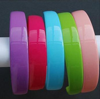 Wholesale Headband Blanks - 12pcs 25mm Blank Plastic Headbands With Teeth Solid Candy Color & white & Black hairbands ,headwear