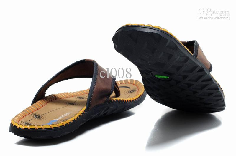2013 nuova pelle bovina uomini Pantofola pantofole infradito bionico nobile avanzata pantofole spedizione gratuita