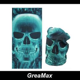 Wholesale Orange Face Mask - Skull Ghosts Tubular Face Mask Multifunctional Seamless Bandana Motorcycle Cycling Scarf Neck Warmer Bandanas Headwear Free Shipping
