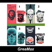 Wholesale Seamless Neck Warmers - 9 styles Designed Multifunctional Seamless Bandana Headwear Skull Tuber Face Mask Scarf for Ride Bicycle Motorcycle Neck Warm CS Game mix