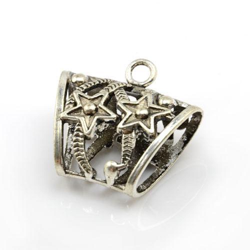 / tubo dello scorrevole della lega di zinco dei pendenti della sciarpa della collana di DIY con progettazione della stella, trasporto libero, AC0010