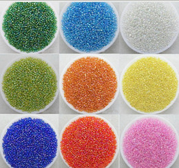 Wholesale Colore brillante / placcatura / multicolore 2MM / 3MM / 4MM perline in vetro ceco perline gioielli Accessor fai da te