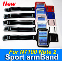 sport jackets in leather - By DHL leather Sport Arm Band glow in dark For Samsung Galaxy N7100 note Jacket case cover armband