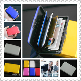 Wholesale pvc id cards - Waterproof Aluminum Metal Business Credit ID Card Holder Purse Wallet New Hot Selling 6pcs Concise fashion