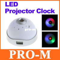 Wholesale Dropshipping Projector - Starry Night Sky LED Projector Alarm Clock 7 Color Change White Freeshipping Dropshipping