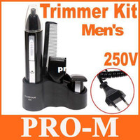 Wholesale Personal Groomer - Deluxe Men's Personal Groomer Trimmer Kit Beard & Nose Hair Trimmer Shaver H8152 Free Dropshipping