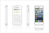 Wholesale Colours Phone Accessories - wholesale ippeel ,onePeel ,iphone case accessories Dual-SIM external mobile phone for iphone 4,4s (white colour)free shoping