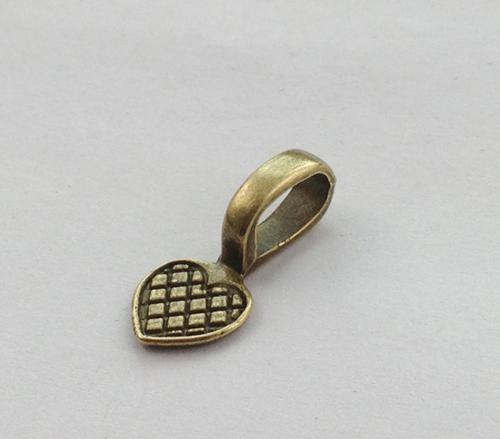 antiqued bronze coração cola no depósito de charneira A11586B