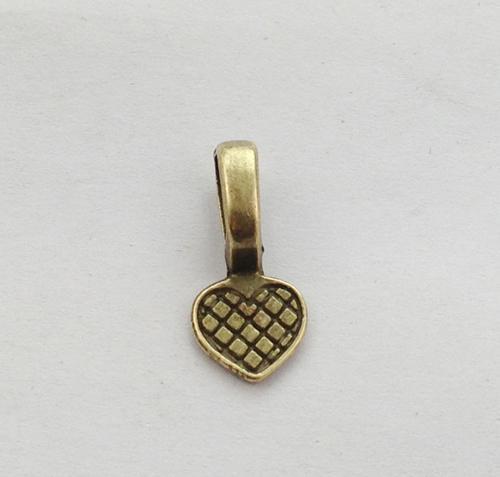 Bronze antique coeur colle sur caution flans de charme A11586B
