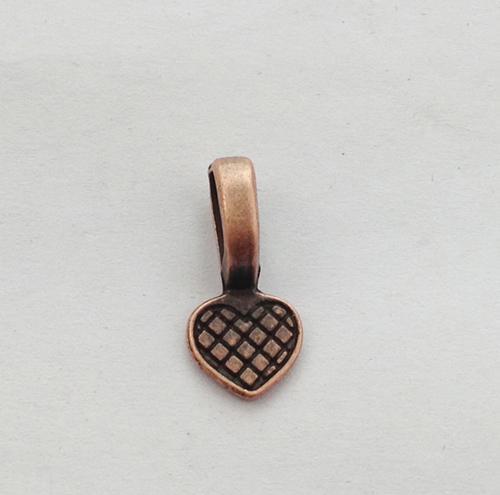 Antiqued Copper Heart Glue na fiança encantos A11586C