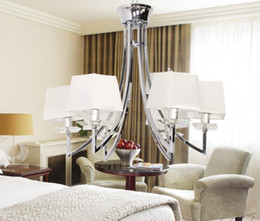 Wholesale Modern Italian Living Rooms - Italian Modern Minimalist Fabric K9 Crystal Chandelier Living Room Dining Room Pendant Lamp Dia 65cm