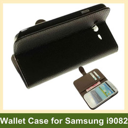 Wholesale Case Flip Galaxy Grand Duos - Wholesale Wallet Case for i9082 PU Leather Flip Case for Samsung Galaxy Grand DUOS i9082 Free Ship