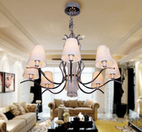 Wholesale Modern Milan Fashion Fabric K9 Crystal Chandelier Living Room Study Room Pendant Lamp Dia cm
