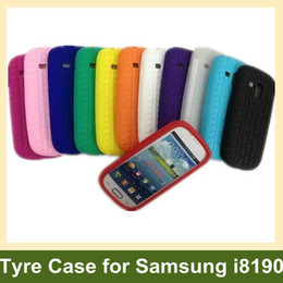 Wholesale Cute Case S3 Mini - Wholesale Cute Tyre Case for i8190 Soft Silicone Case for Samsung Galaxy SIII S3 Mini i8190 30pcs lot