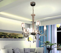 Wholesale New Modern Milan Fashion Fabric K9 Crystal Chandelier Dining Room Study Room Pendant Lamp Dia cm