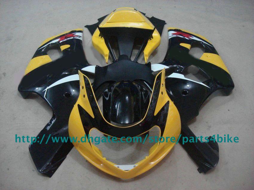 Kit de carénage noir jaune bon marché pour suzuki GSXR 600 750 2001-2003 K1 GSXR600 GSXR750 01- 03 RX1z