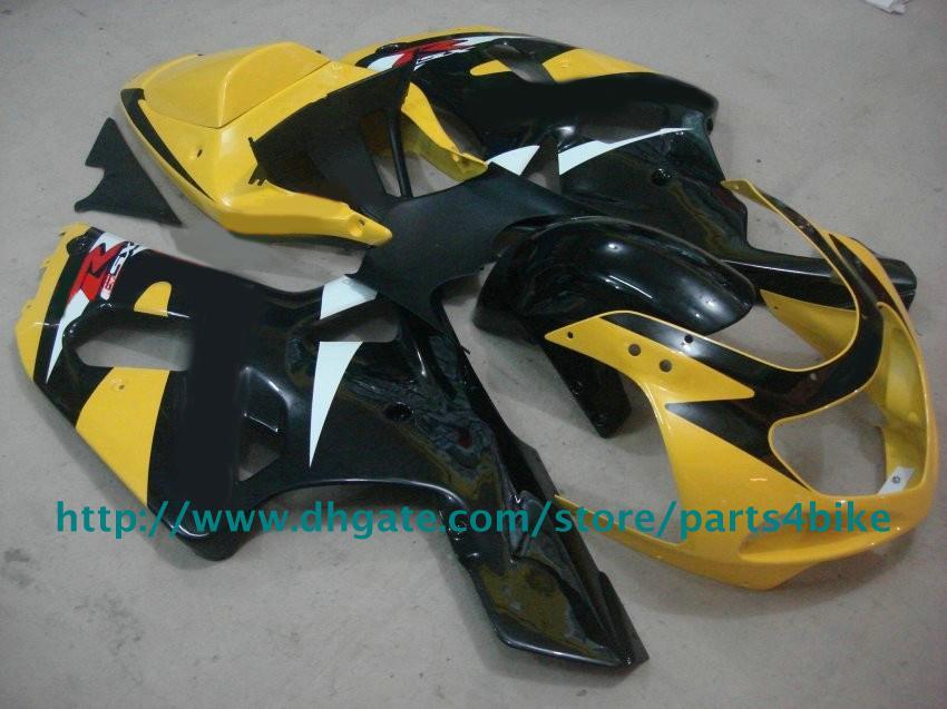 Goedkope Fine Yellow Black Fairing Kit voor Suzuki GSXR 600 750 2001-2003 K1 GSXR600 GSXR750 01- 03 RX1Z