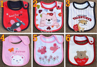 Wholesale Infant saliva towels layer Baby Waterproof bibs Baby wear accessories styles