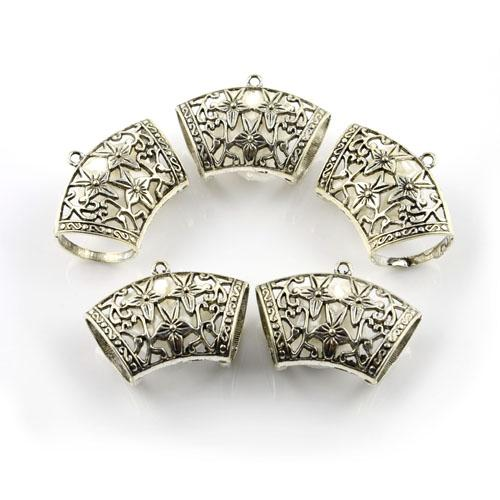 20PCS/LOT, DIY Jewellery Scarf Findings Star Alloy Slide Holding Tube Charm, Free Shipping, AC0021