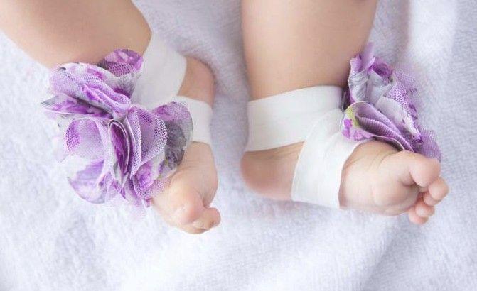 / baby Slipper Sandals Barefoot shoes Foot Flower Ties Toddler Shoe Infant crochet