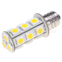 Wholesale E12 Bulb 12v - Free Shipment!! 18LED 5050SMD E12 LED Auto Bulb 12V 24V 360LM White Color 3W 1pcs lot
