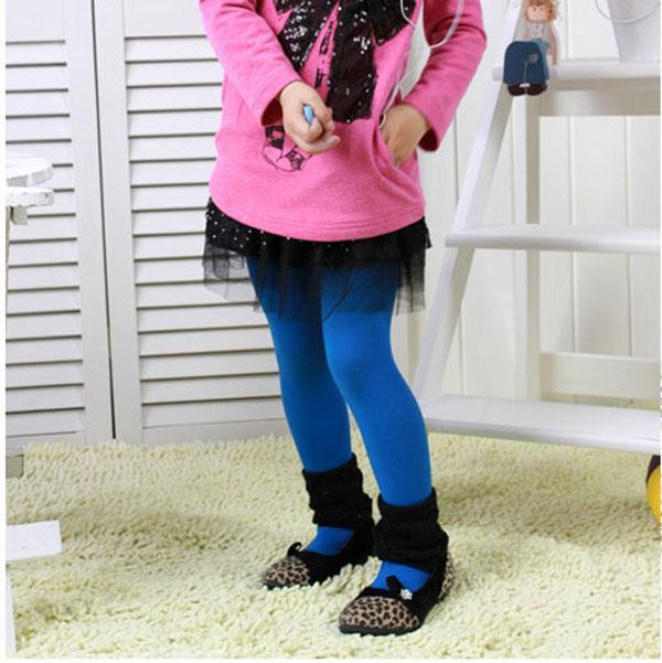 2013 meisjes fluweelachtige gekleurde panty's kinderen bottoming panty meisjes panty