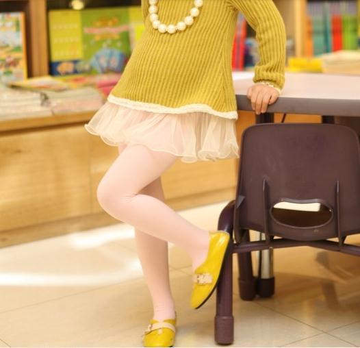 2013 filles veloutée couleur Collant enfants talonnage Pantyhose filles Pantyhose