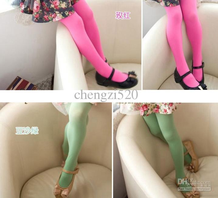 2013 Meninas aveludado colorido Meias Crianças Bottoming Meias meninas meia-calça