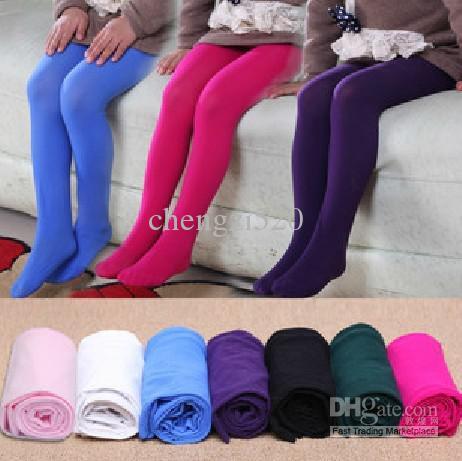 2013 ragazze Vellutato colorato Calze bambini che basa il Pantyhose Ragazze Calze