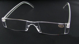 Wholesale Clear Reading - 20pcs lot Unbreakable clear white reading glasses plastic reading glasses lenses degree from +1.00 to +4.00