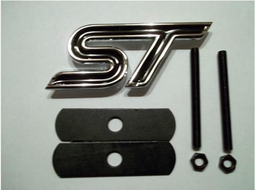 FACTORY SALE New RED/BLACK/BLUE ST Metal Chrome Grill Emblem 3D Car AUTO Badge Emblems Badges