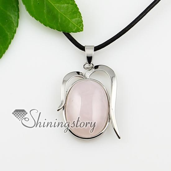 Wholesale oval pink white purple green stone jewelry semi precious wholesale oval pink white purple green stone jewelry semi precious stone pendant spsp0966tc0 handmade stone necklaces pendants jewelry small pendant mozeypictures Images