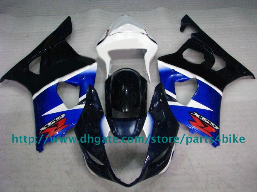 Carénages de travail de corps bleu noir Pour SUZUKI GSXR1000 03 04 GSXR 1000 2003 2004 K3 kit de carénage RX9p