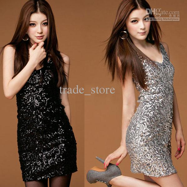 25c3f382deea7 2013 Hot Fashion Women s Dress Manual Sequin Sexy Party Dress Sleeveless  Paillette Skirts Club Wear Beautiful Dresses Petite Dresses From  Trade store