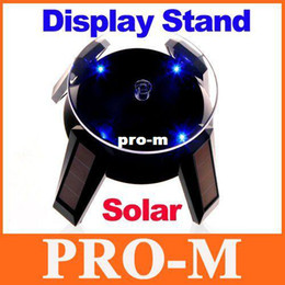 Wholesale Solar Powered Display Stand - Solar Powered Jewelry Phone Watch Rotating Display Stand Turn Table with LED Light Dropshipping