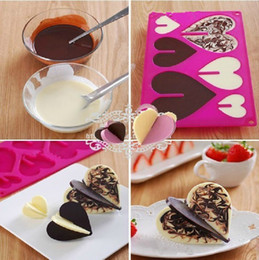 Wholesale Silicone Heart Shaped Chocolate Mould - 1 piece Baking Moulds ,New style creative heart-shaped chocolate insert,chocolate moulds Xmas gift