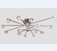 New Modern Minimalist K9 Crystal Ceiling Lamp Chandelier Liv...
