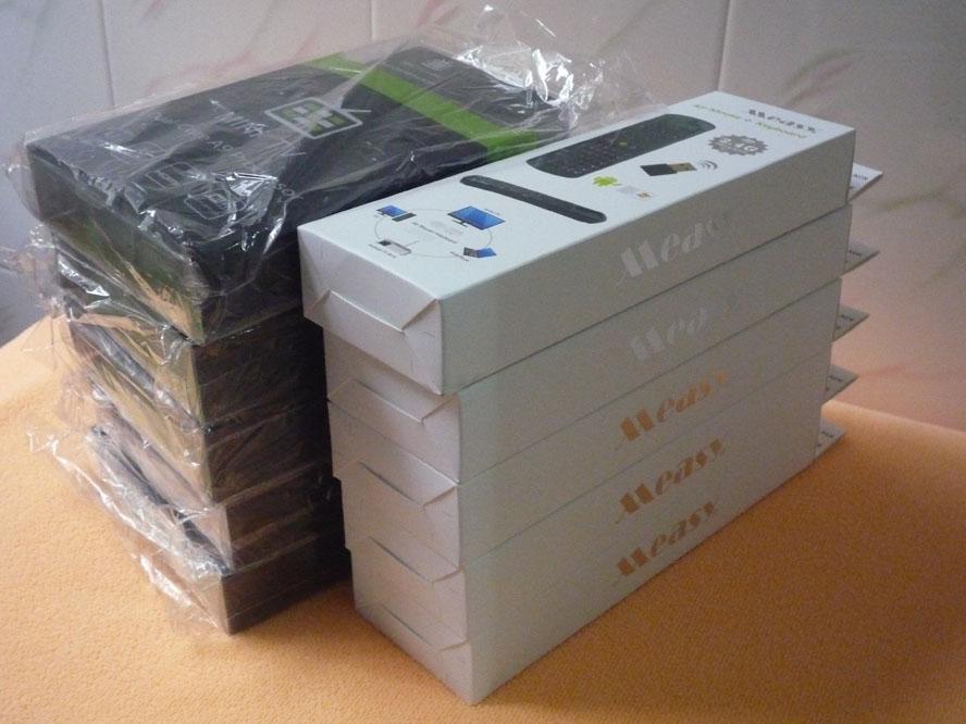 MK808 Google TV-Box Mini-PC RK3066 Android 4.1 Dual Core mit Air Maus Tastatur RC11 Kombipaket